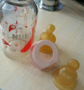 Бутылка Nuk, стекло
