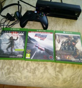 Xbox one+kinect+30игр