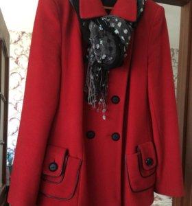 Новое элегантное п/пальто