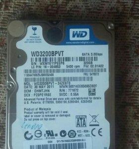 HDD WD 320 GB 2,5
