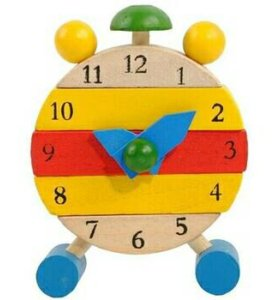 Деревянная игрушка. Часы