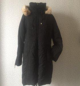 Утепленное пальто б/у