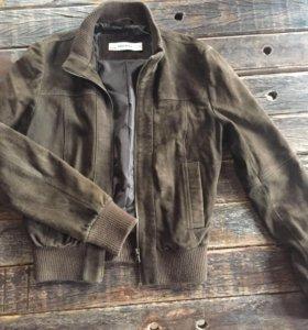 Куртка бомбер замшевая, Zara