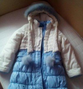 Зимнее пальто рост 128