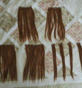 Волосы на заколках premium. Новые