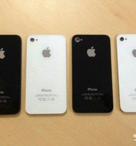 Стекла защитные Айфон 5,5s,5с,крышки заднии 4s