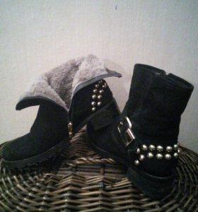Сапоги/ботинки зима замша,мех все натуральное