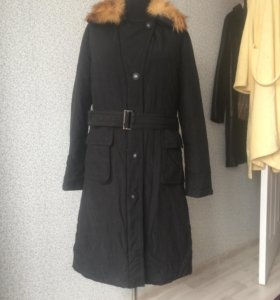 Пуховое пальто б/у