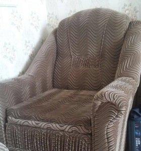 Диван угловой с креслом, оба раскладываются