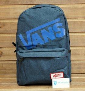 Рюкзак Vans, текстильный, темно-синий