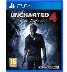 Новый диск с игрой Uncharted 4