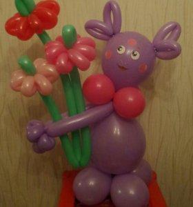 Лунтик с цветами!