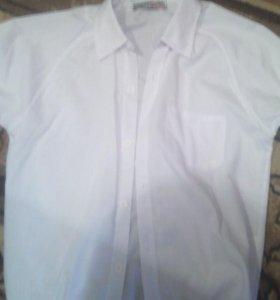 Рубашка белая без рукавов