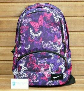 """Рюкзак со стикером, фиолетовый """"Бабочки"""""""
