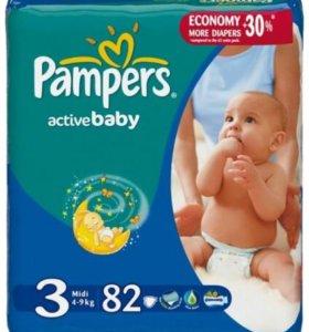 Подгузники Pampers Active Baby Dry 3(82 шт.)