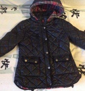 Куртка на девочку.р.134 утеплённая весна-осень