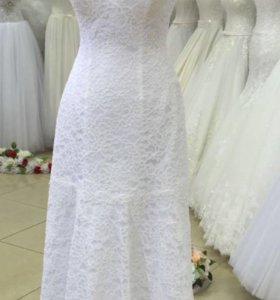 Новое свадебное платье. Кружевное