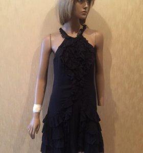 Шёлковое чёрное платье Karen Millen (оригинал)