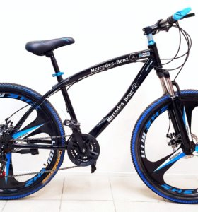 "Велосипед Мерседес 26"" литые диски, black, 3 луча"