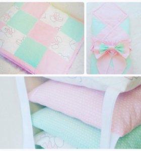 Одеяло, бортики в кроватку