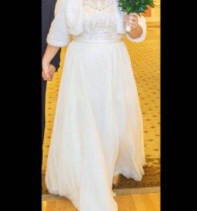Свадебное платье+ шубка-болеро