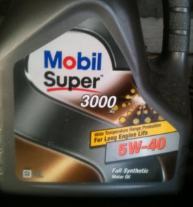 Масло Mobil super 3000 5W-40