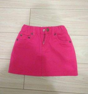 Новая юбка джинс р.110