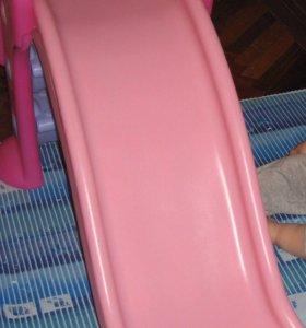Горка детская пластмассовая для дома