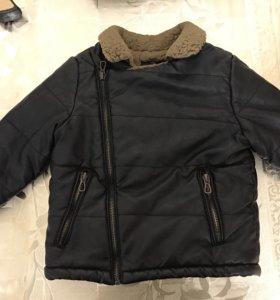Куртка кожаная Zara