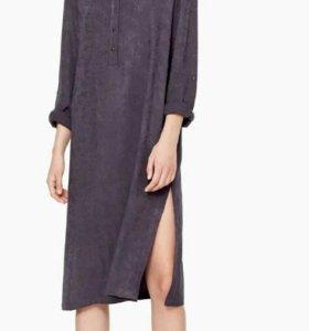 новое платье-рубашка манго.размер с