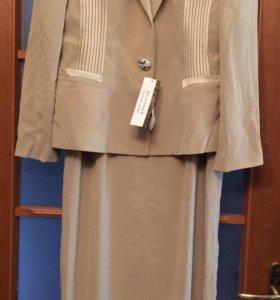 Костюм:Пиджак+ платье 46-48