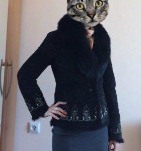Куртка женская замшевая с мехом