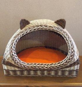 Дом для кота плетёный