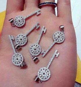 Кулоны серебряные