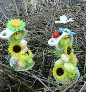 Пасхальные мини чашки проливашки ручной работы