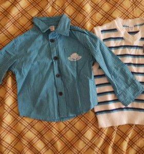 Рубашка и безрукавка