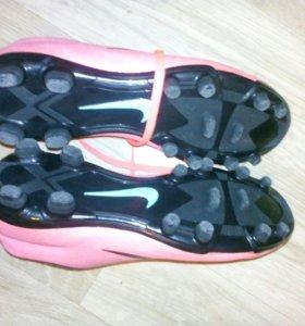 Бутсы Nike Mercurial розовые