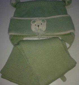 Шапочка и шарфик зимние.