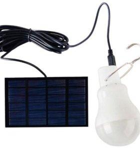Лампа LED с аккумулятором и солнечной батареей