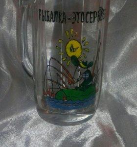 Пивные бокалы с ручной росписью
