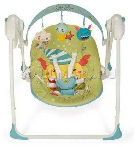 Электрокачели Happy Baby Jolly синие. На гарантии.