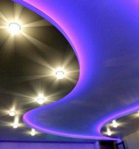 Потолки и светильники