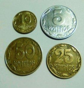 Украина 4 монеты