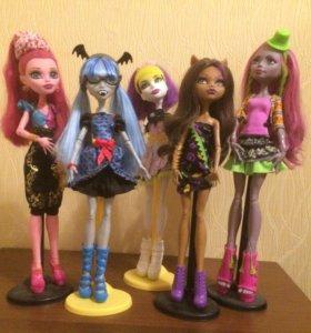 Куклы Monster high+аксессуары +две куклы БЕСПЛАТНО