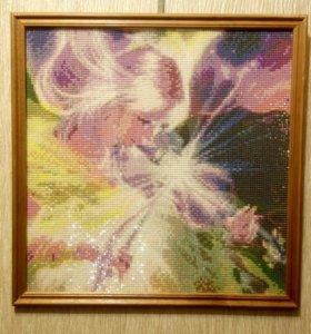"""Алмазная мозаика """"девушка со скрипкой'"""