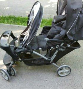 Прогулочная коляска для двойни graco stadium DUO