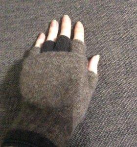 Новые шерстяные варежки-перчатки