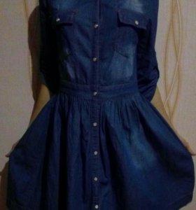 Платье(джинсовое)