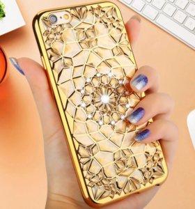 Чехол для iPhone 6/6s plus новый gold
