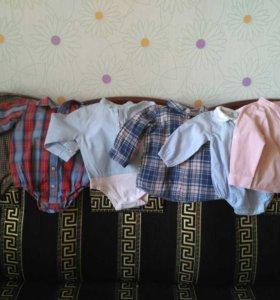 Рубашки и боди -рубашки на 12-18-24